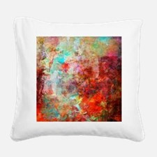 Abstract Painting In Mixed Me Square Canvas Pillow