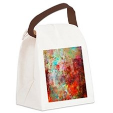 Abstract Painting In Mixed Media  Canvas Lunch Bag
