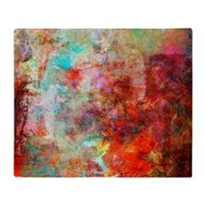 Abstract Painting In Mixed Media Sty Throw Blanket