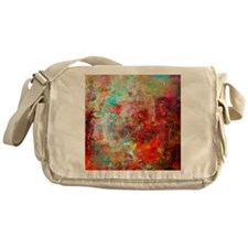 Abstract Painting In Mixed Media Sty Messenger Bag