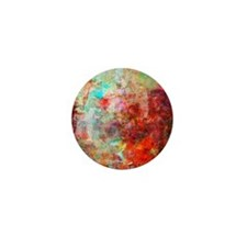 Abstract Painting In Mixed Media Style Mini Button