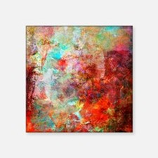 """Abstract Painting In Mixed  Square Sticker 3"""" x 3"""""""
