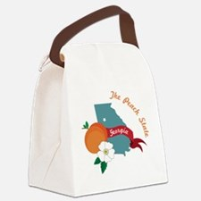 The Peach State Canvas Lunch Bag