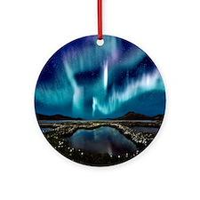 Aurora Borealis Round Ornament