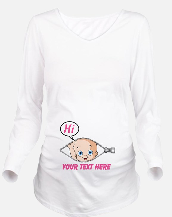 Cute Funny pregnancy Long Sleeve Maternity T-Shirt
