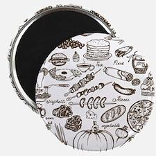 Doodle food Magnet
