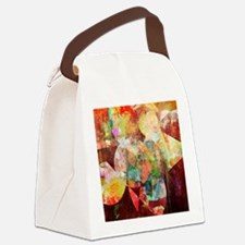Mixed Media Collage Canvas Lunch Bag