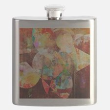Mixed Media Collage Flask
