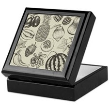 Hand-drawn set of fruit and berries Keepsake Box