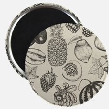 Hand-drawn set of fruit and berries Magnet