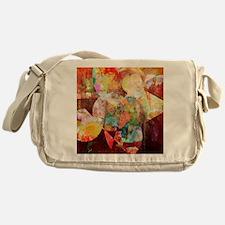 Mixed Media Collage Messenger Bag