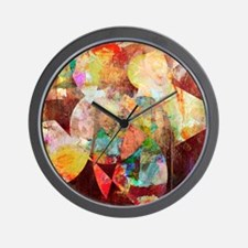 Mixed Media Collage Wall Clock