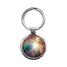 Nebula Round Keychain