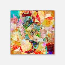 "Mixed Media Collage Square Sticker 3"" x 3"""