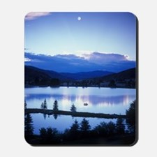 Mountain sunset/moonset Mousepad
