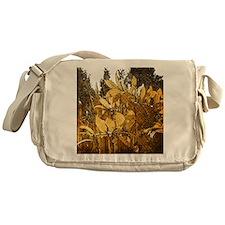 Grunge Leaves Messenger Bag