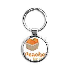 Peaches For Sale Round Keychain