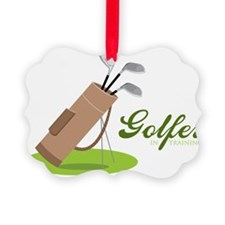 Golfer in Training Ornament