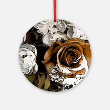 Grunge Flowers Round Ornament