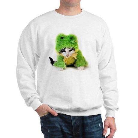 Kitten In Frog Suit Sweatshirt