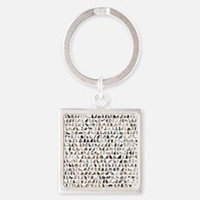Large group of 471 cats breeds in  Square Keychain