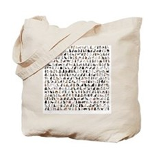 Large group of 471 cats breeds in front o Tote Bag