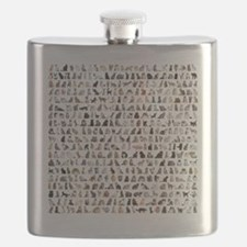 Large group of 471 cats breeds in front of a Flask
