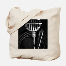 Harmonica and Vintage Microphone Tote Bag
