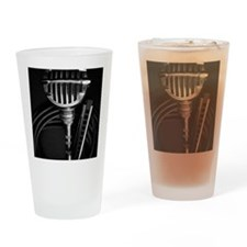 Harmonica and Vintage Microphone Drinking Glass