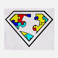 Autism is a Super Power Throw Blanket