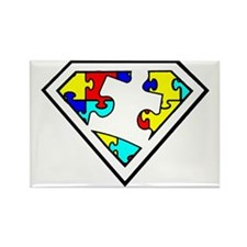 Autism is a Super Power Rectangle Magnet