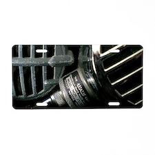 Vintage Bullet Microphones Aluminum License Plate