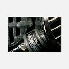 Vintage Bullet Microphones Rectangle Magnet
