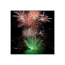 """Beautiful Fireworks Square Sticker 3"""" x 3"""""""