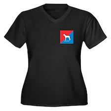 PIO Women's Plus Size V-Neck Dark T-Shirt
