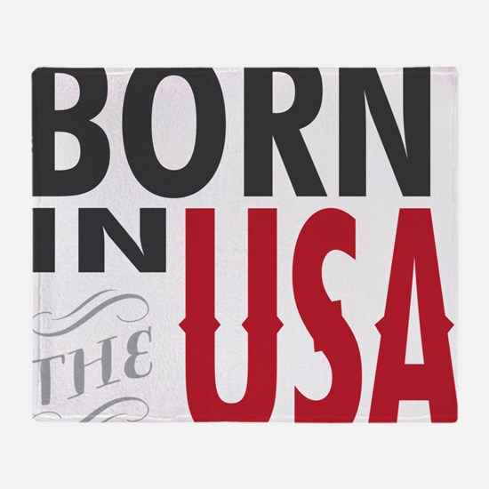 Born In The USA Throw Blanket