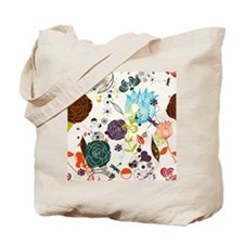Retro Floral Pattern Tote Bag