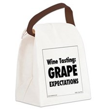 Grape Expectations Canvas Lunch Bag