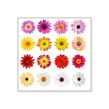 """The Perfect Daisy Collectio Square Sticker 3"""" x 3"""""""