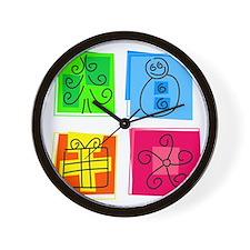Christmas Icons Wall Clock