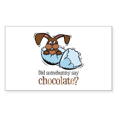 Somebunny Chocolate Rectangle Sticker
