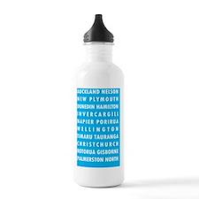 Lt Blue NZ Cities Water Bottle