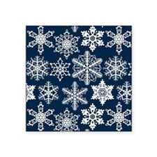 "Crochet snowflakes seamless Square Sticker 3"" x 3"""