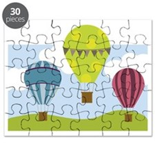 Hot Air Balloon Scene Puzzle
