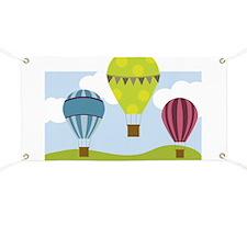 Hot Air Balloon Scene Banner