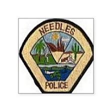 "Needles Police Department Square Sticker 3"" x 3"""