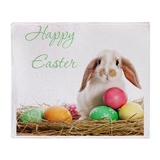 Easter Bunny Throw Blanket