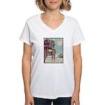 Japanese illustration Women's V-Neck T-Shirt