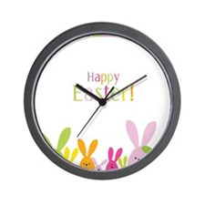 Easter Rabbits Wall Clock