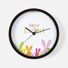 Easter Rabbits Wall Clock
